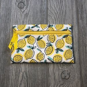 Lemon design Ipsy cosmetic makeup bag